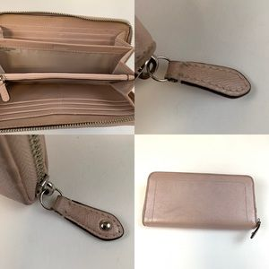 Coach Bags - Coach Wallet Zip Around Accordion Solid Light Pink